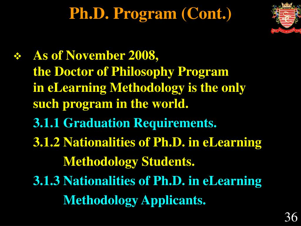 Ph.D. Program (Cont.)