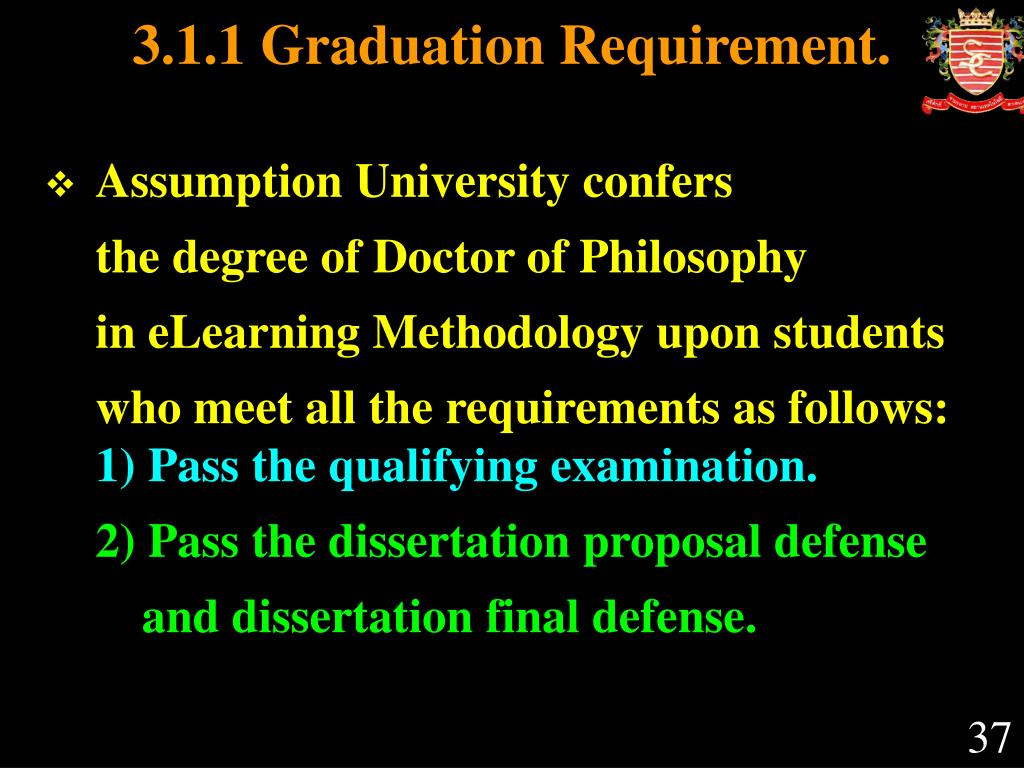 3.1.1 Graduation Requirement.