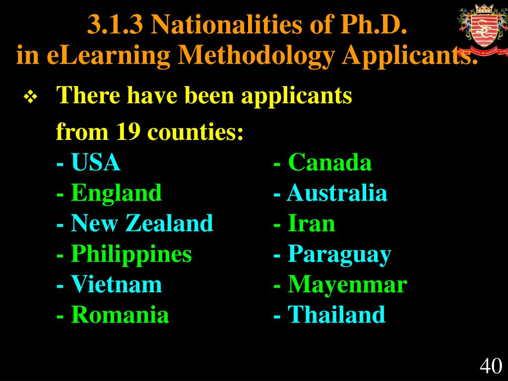3.1.3 Nationalities of Ph.D.