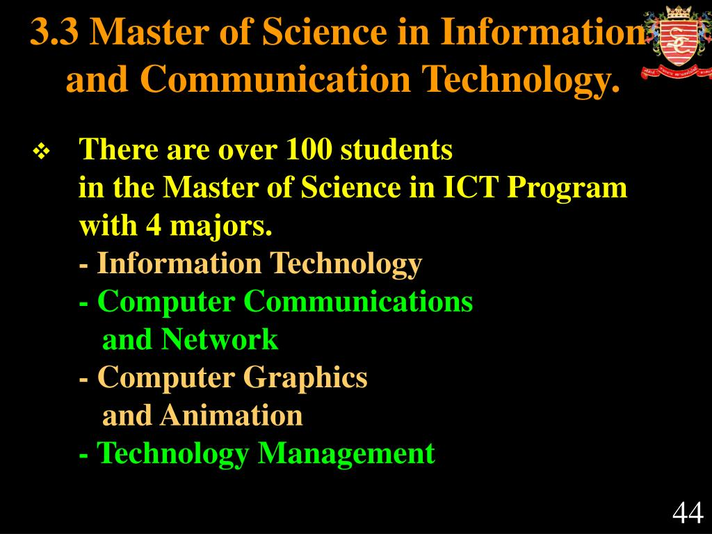 3.3 Master of Science in Information