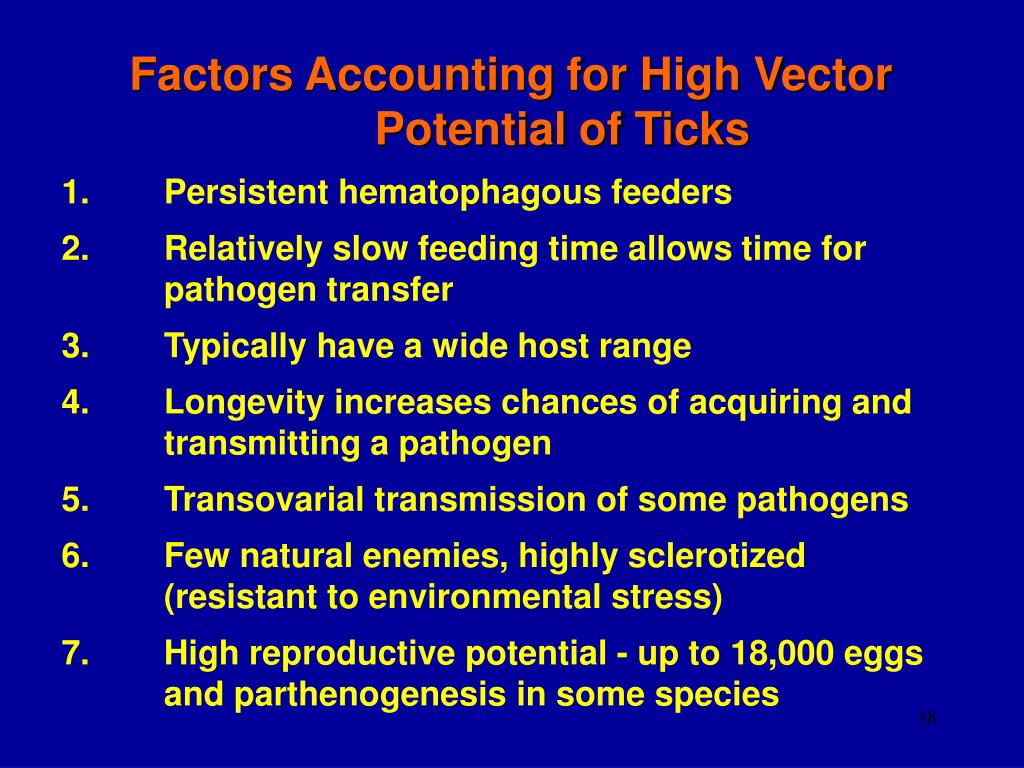 Factors Accounting for High Vector Potential of Ticks