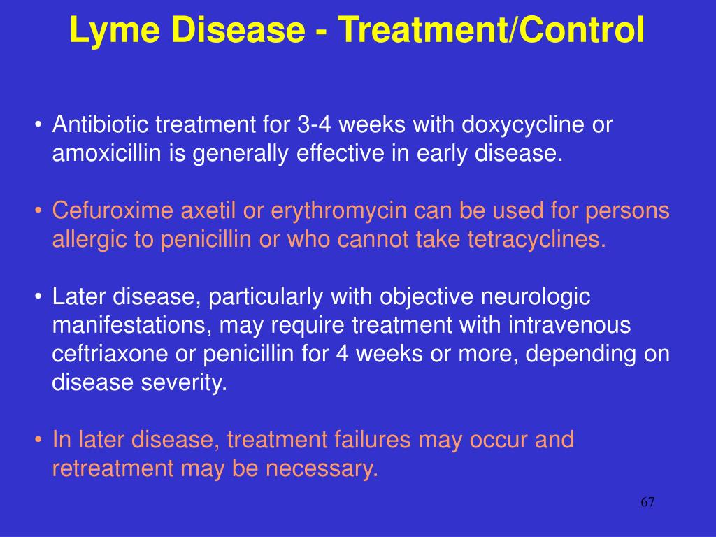 Lyme Disease - Treatment/Control