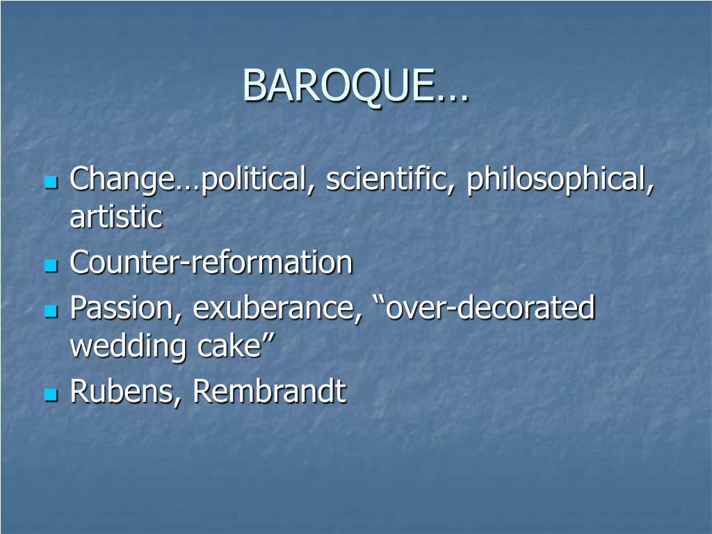 BAROQUE…