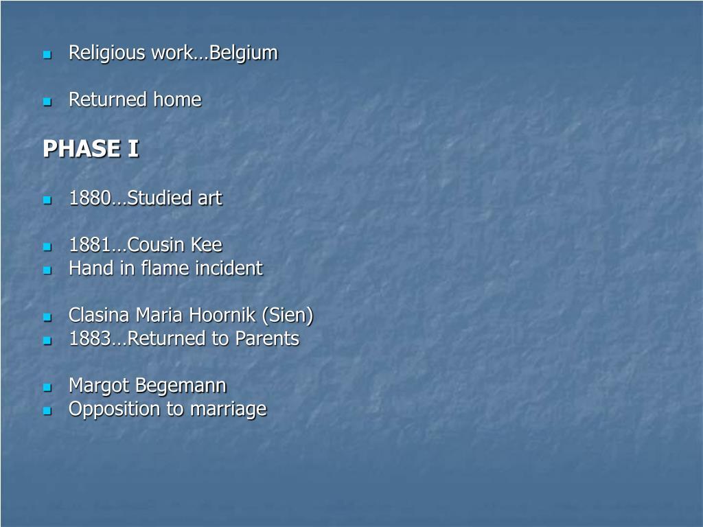Religious work…Belgium