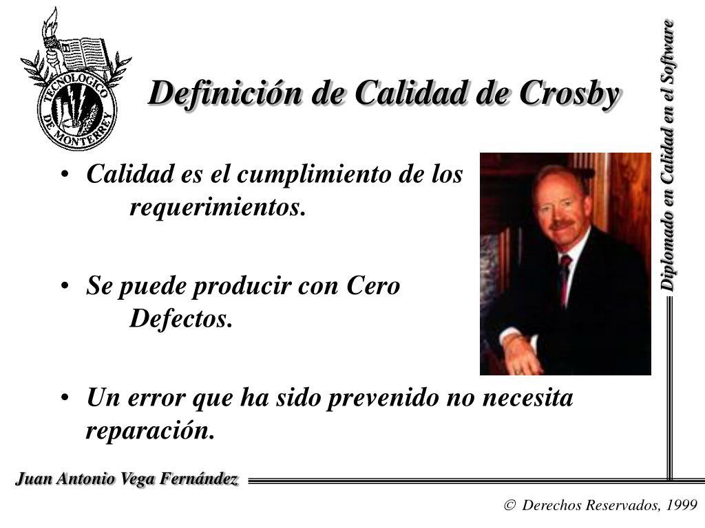 Definición de Calidad de Crosby