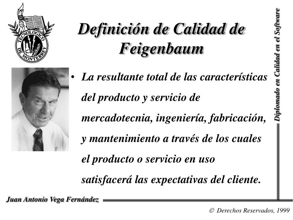 Definición de Calidad de Feigenbaum