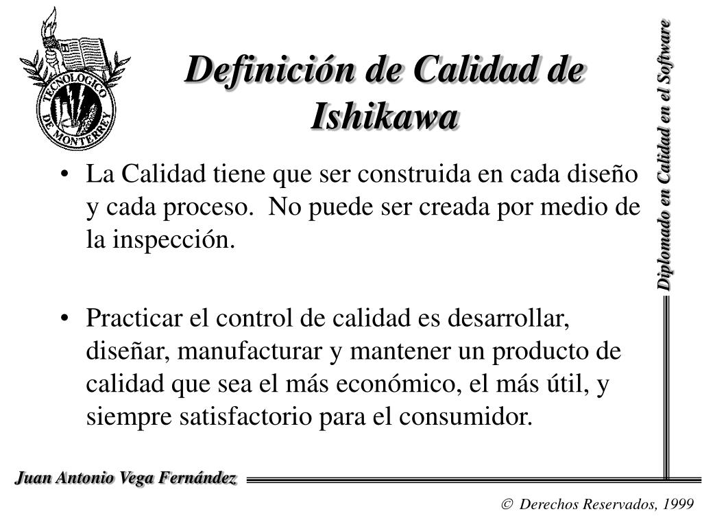 Definición de Calidad de Ishikawa