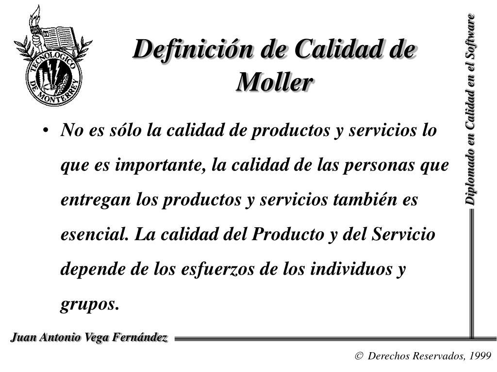 Definición de Calidad de Moller
