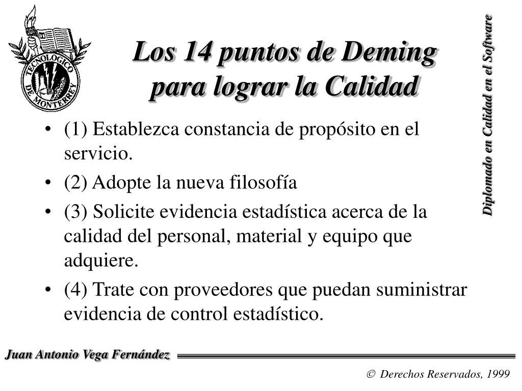 Los 14 puntos de Deming