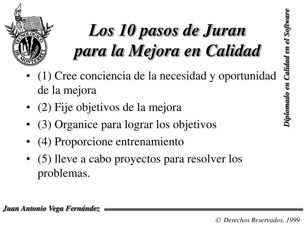 Los 10 pasos de Juran