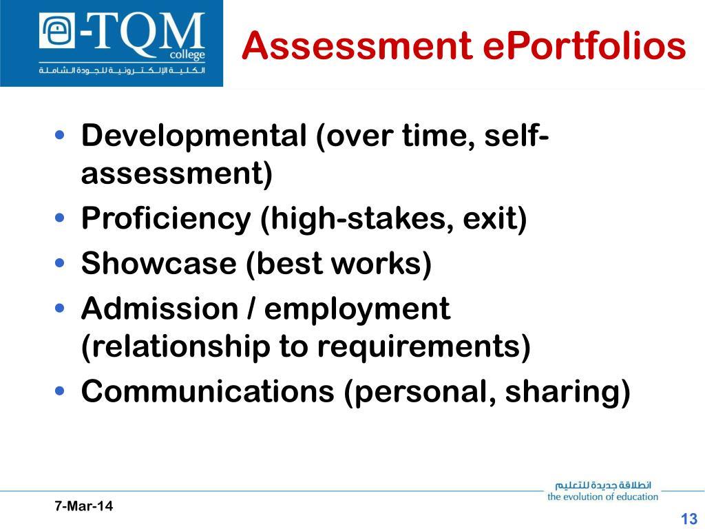 Assessment ePortfolios