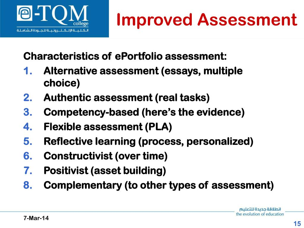 Improved Assessment