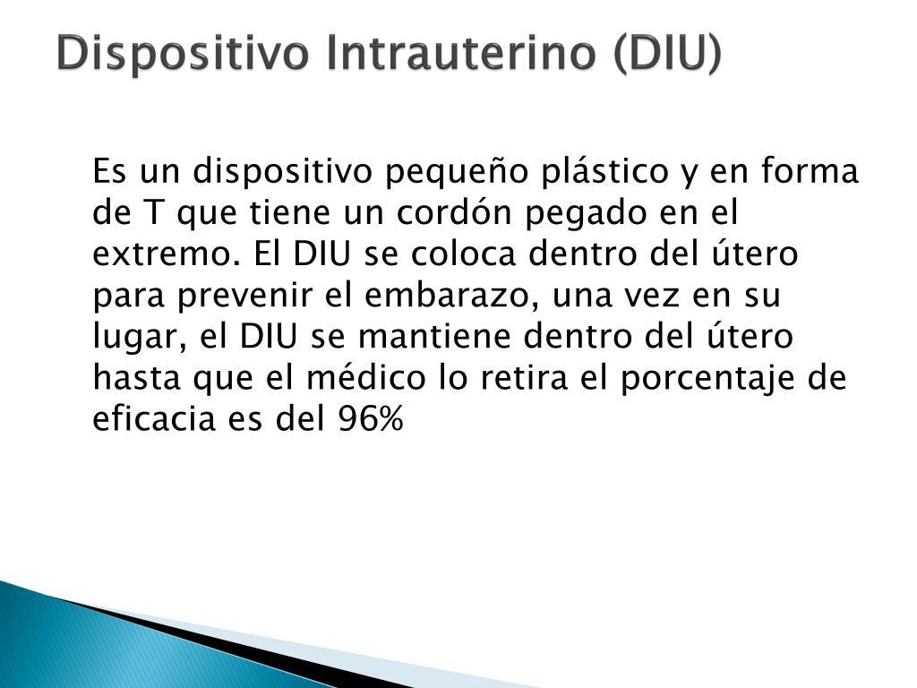 Dispositivo Intrauterino (DIU)