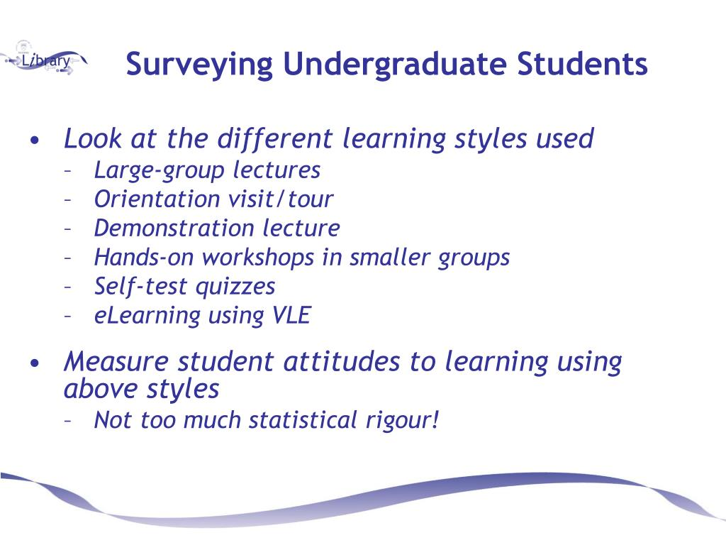 Surveying Undergraduate Students