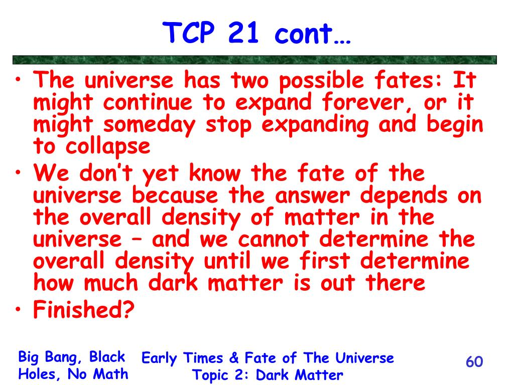 TCP 21 cont…