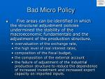 bad micro policy
