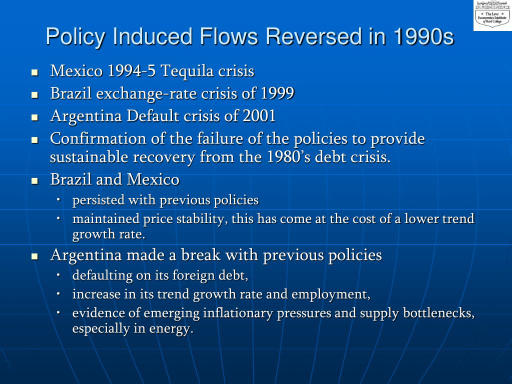 Policy Induced Flows Reversed in 1990s