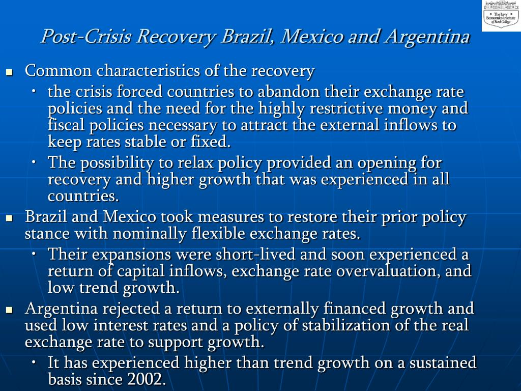 Post-Crisis Recovery Brazil, Mexico and Argentina