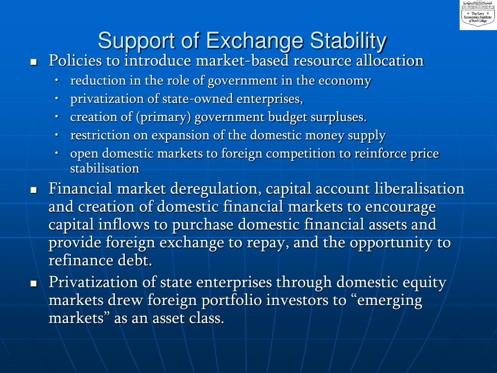 Support of Exchange Stability