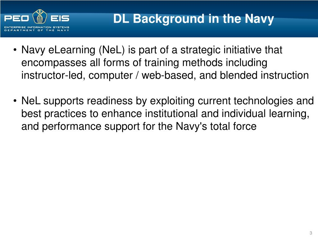 DL Background in the Navy