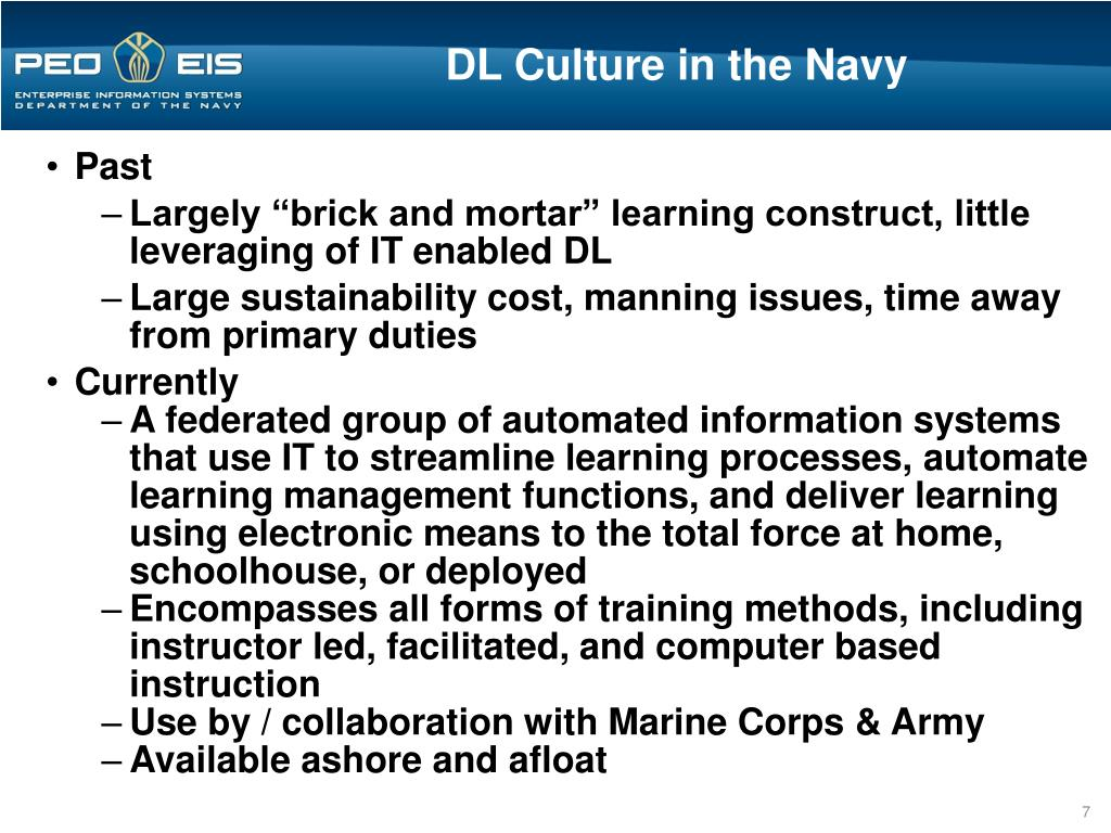 DL Culture in the Navy