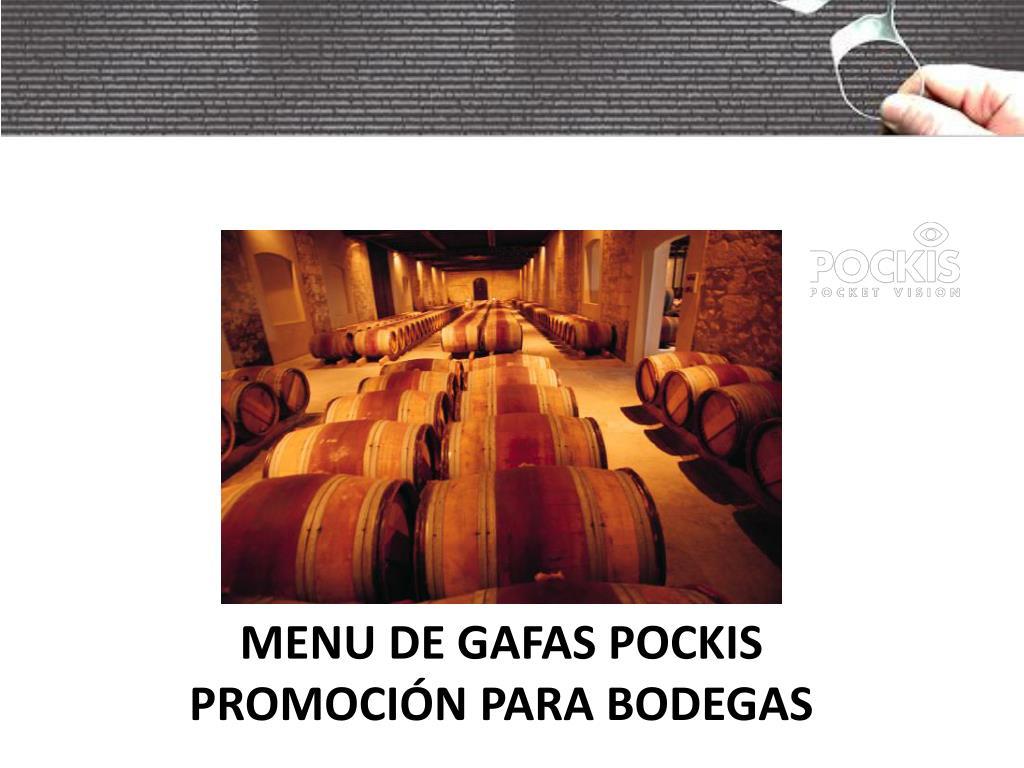 MENU DE GAFAS POCKIS