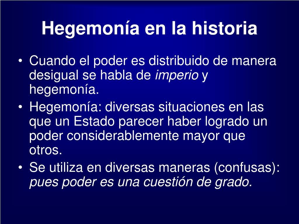 Hegemonía en la historia