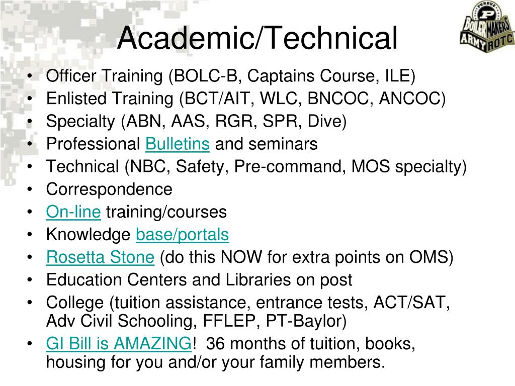 Academic/Technical