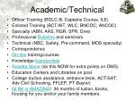 academic technical