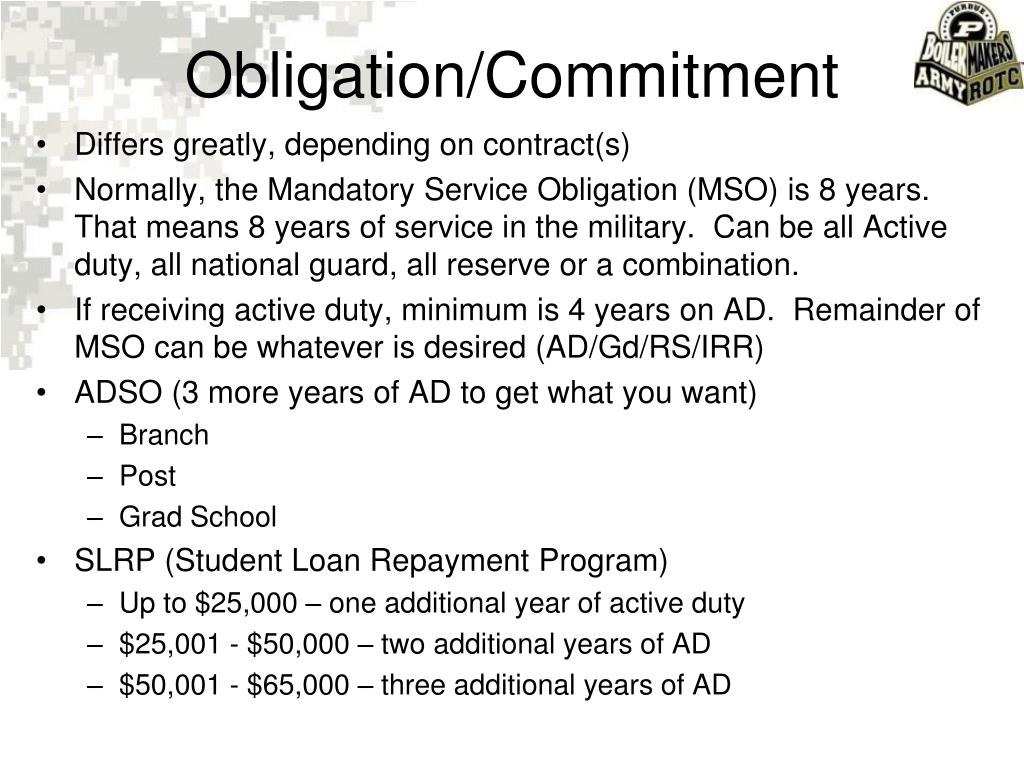 Obligation/Commitment
