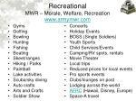 recreational mwr morale welfare recreation www armymwr com
