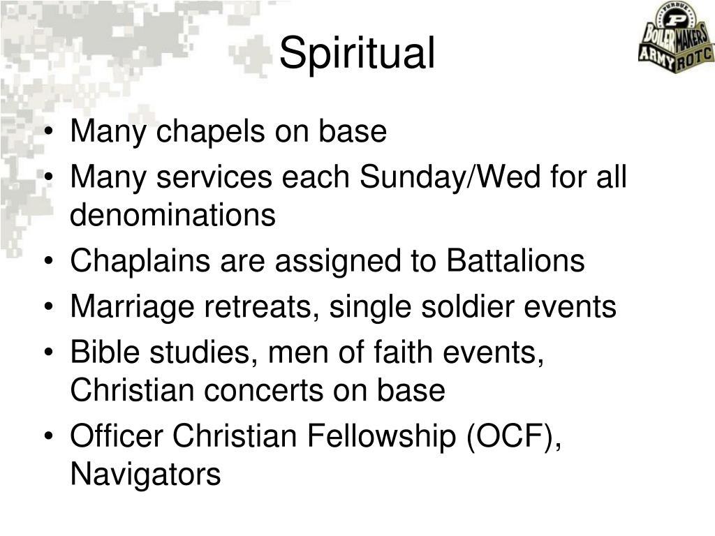 Many chapels on base