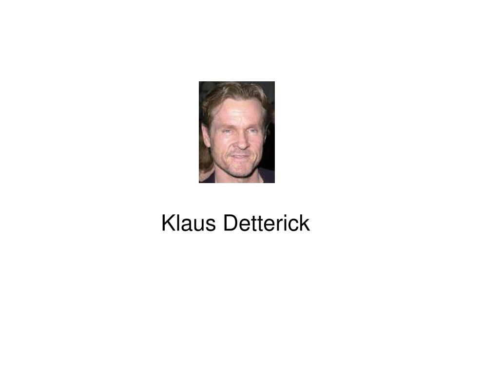 Klaus Detterick