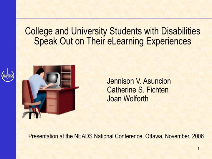 College and University Students with Disabilities
