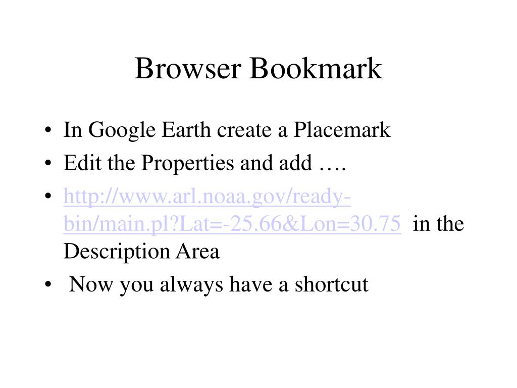 Browser Bookmark