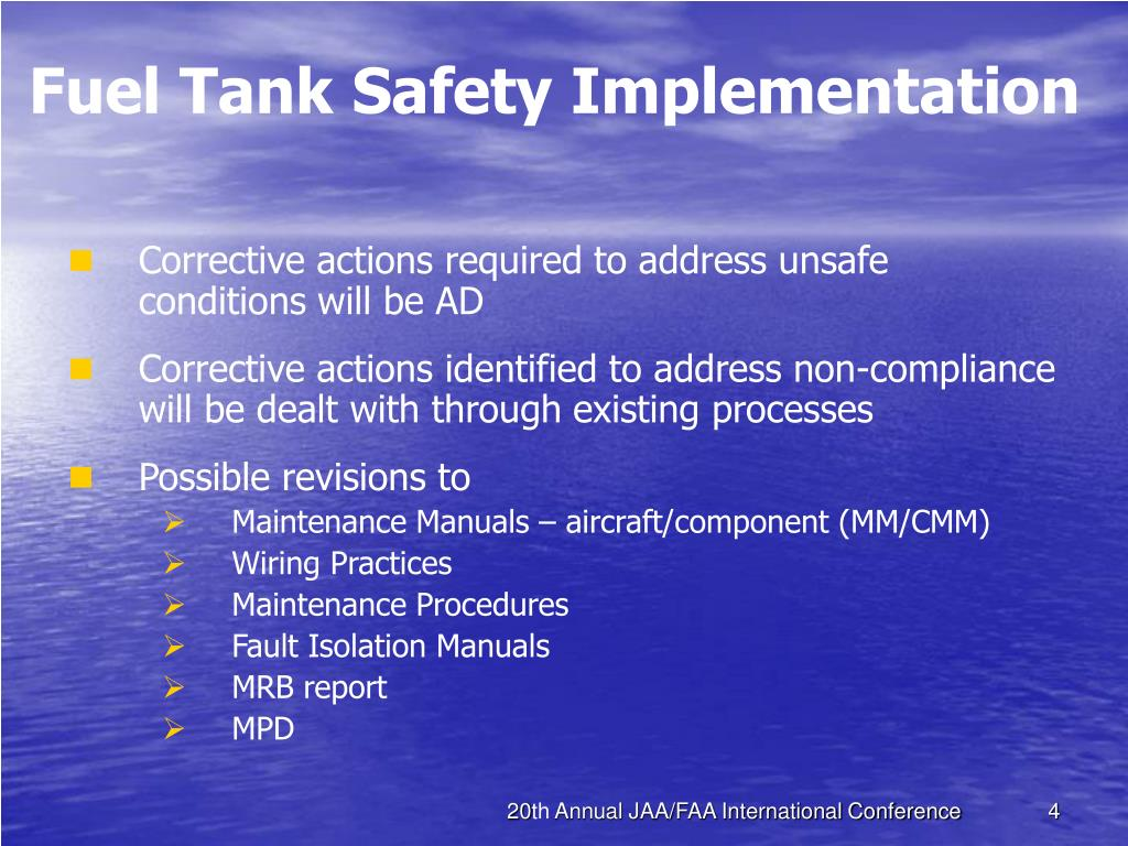 Fuel Tank Safety Implementation