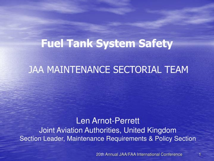 Fuel Tank System Safety