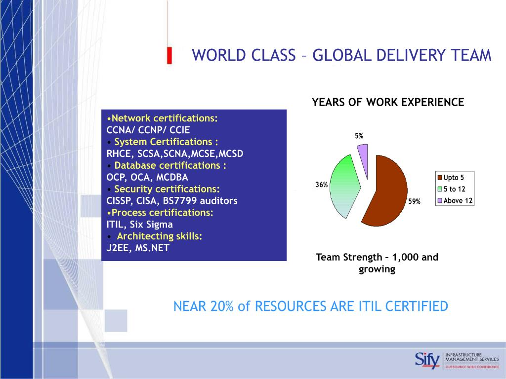 WORLD CLASS – GLOBAL DELIVERY TEAM