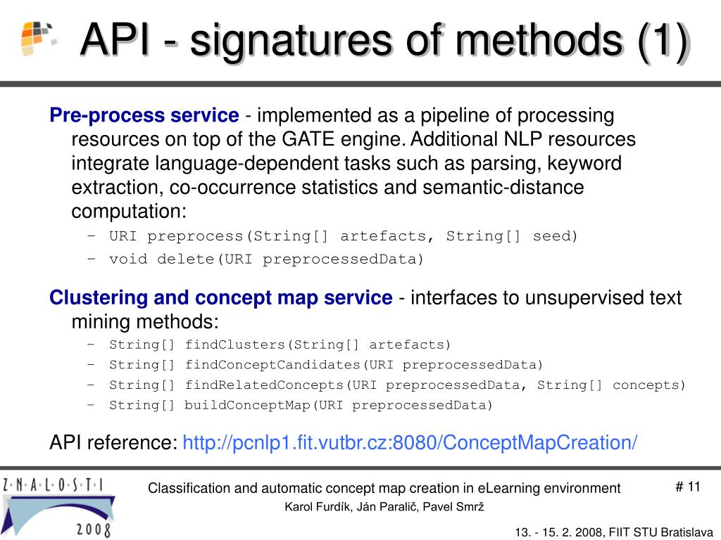 API - signatures of methods (1)
