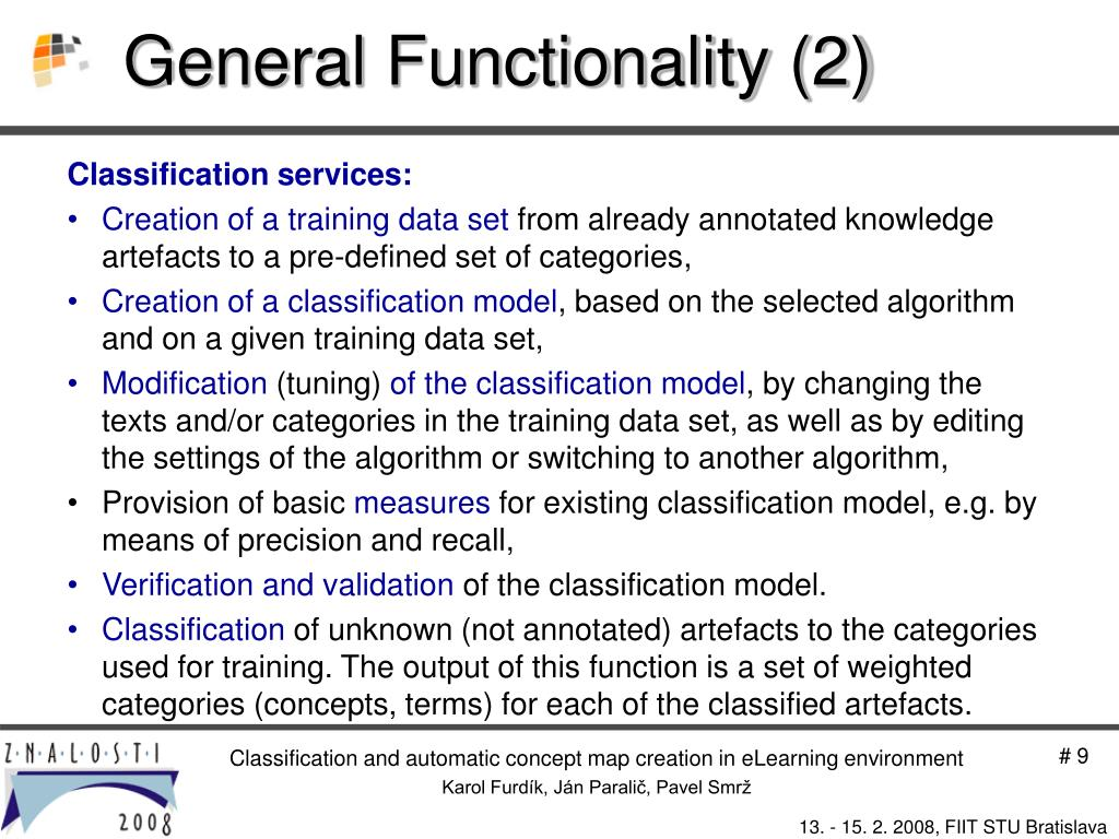 General Functionality (2)