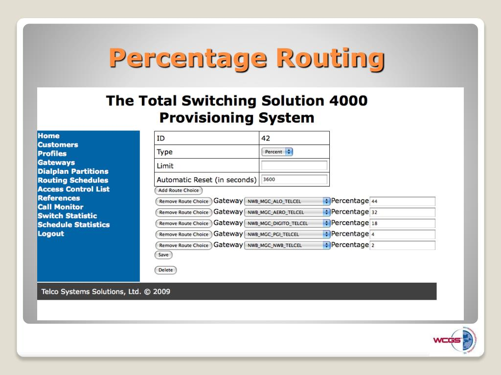 Percentage Routing