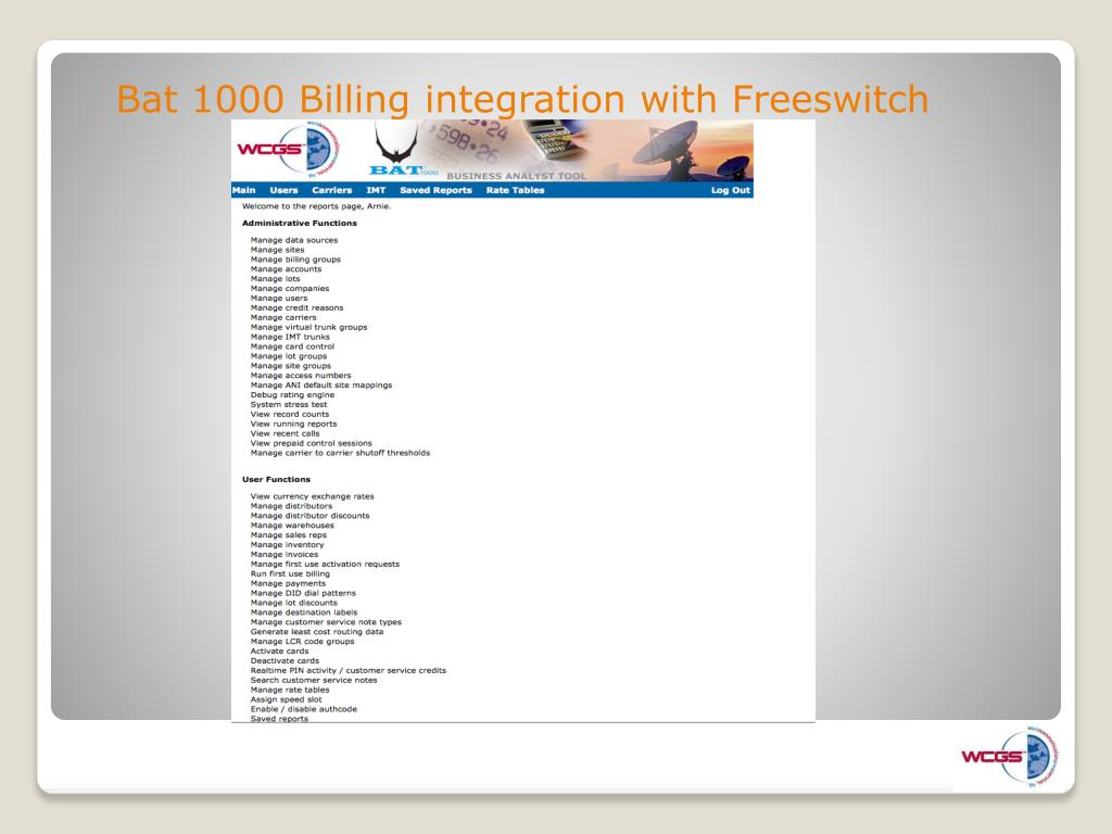 Bat 1000 Billing integration with Freeswitch