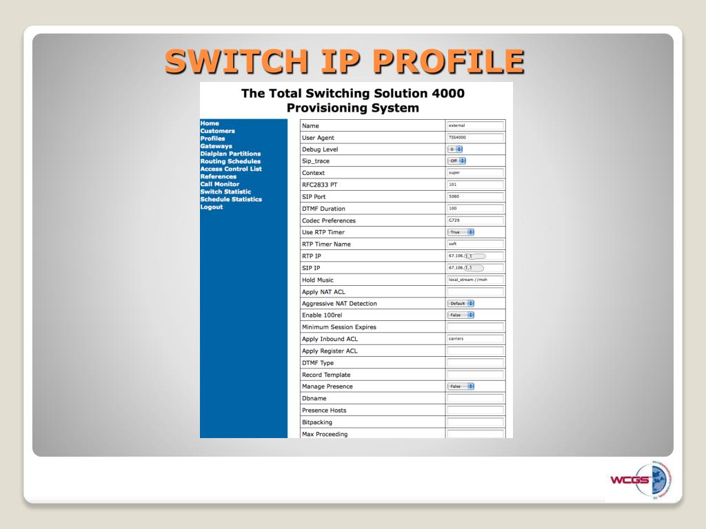 SWITCH IP PROFILE