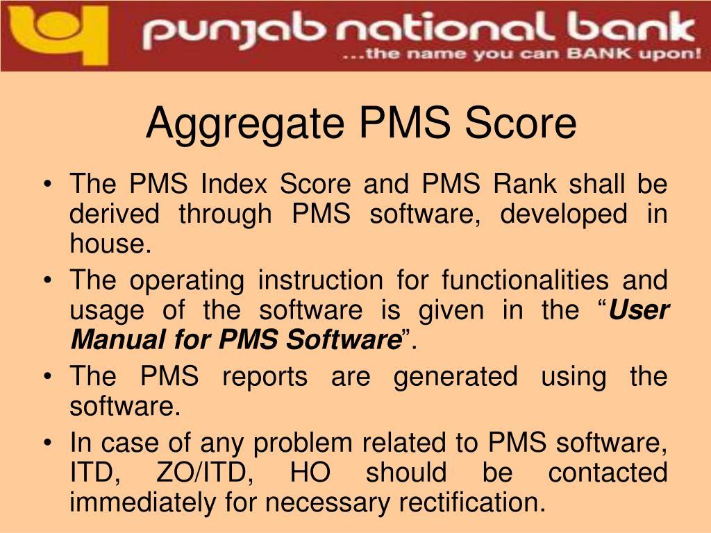 Aggregate PMS Score