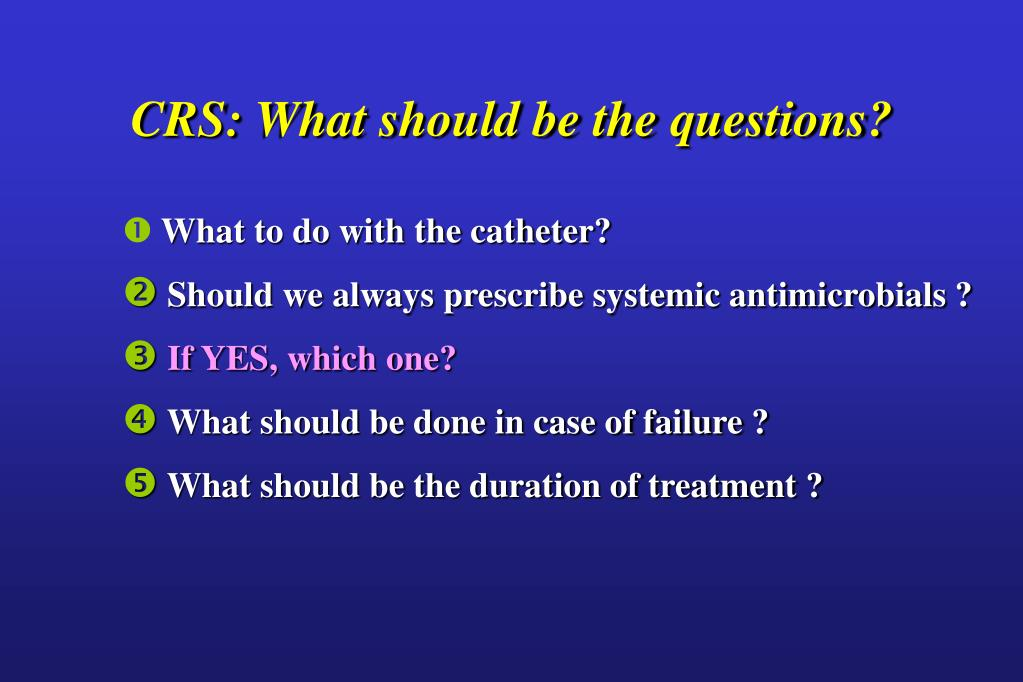 CRS: What should be the questions?