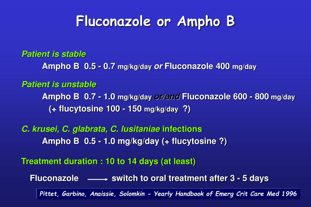 Fluconazole or Ampho B