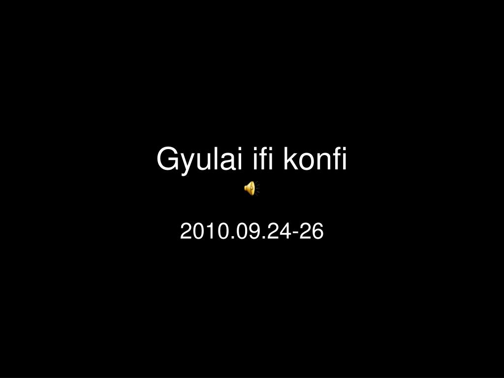 Gyulai ifi konfi