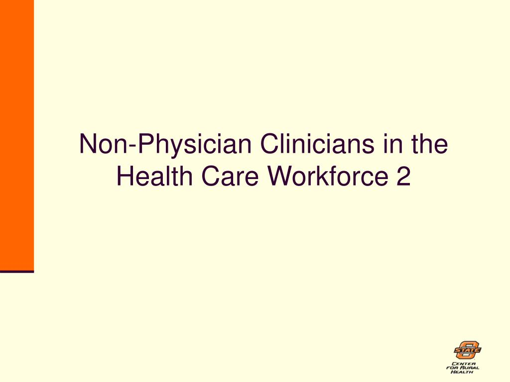 Non-Physician Clinicians in the Health Care Workforce 2