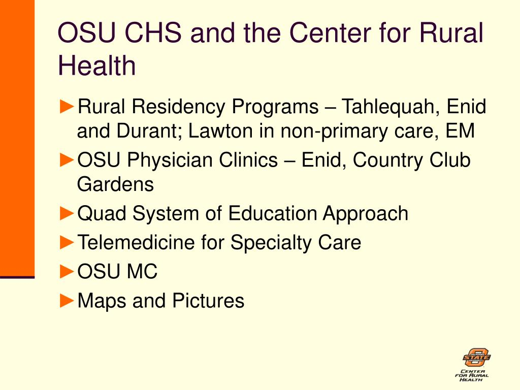 OSU CHS and the Center for Rural Health