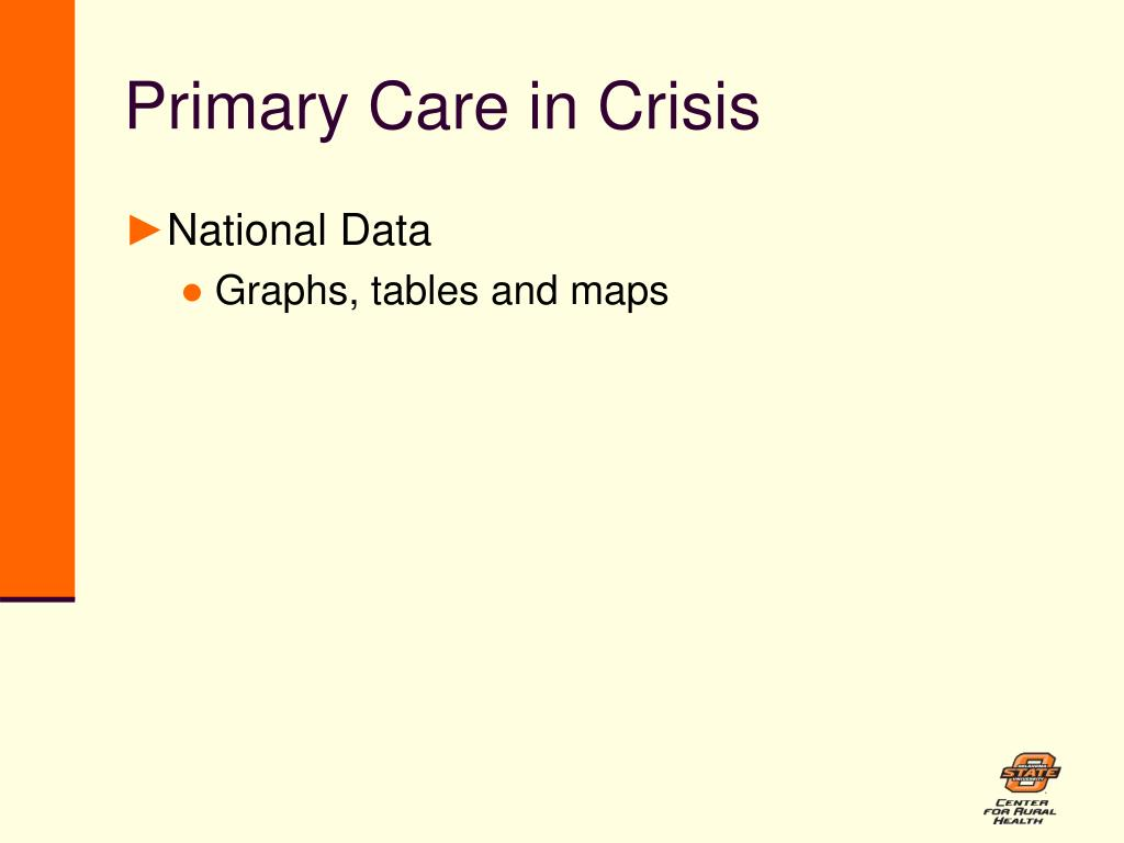 Primary Care in Crisis